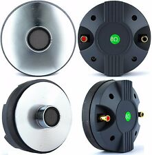 "SDC 2PCS 2400W Titanium Compression 1.75"" Screw-On Horn Driver Tweeter PAIR"