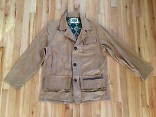 Vintage Ideal Men's Fishing Hunting Jacket Coat w/ Game Pockets and Lures & Box
