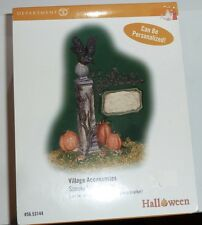 DEPARTMENT 56 SPOOKY VILLAGE SIGN HALLOWEEN SNOW VILLAGE ACCESSORY MIB #53144