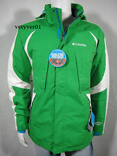 COLUMBIA Omni-Heat Thermal Reflective Co-Morph 2 Jacket, Green/White, size L