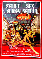SEXWORLD 1978 SCI-FI LESLIE BOVEE AMBER HUNT ANTHONY SPINELLI  EXYU MOVIE POSTER