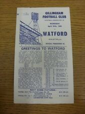 24/04/1968 Gillingham v Watford [Dark Blue Print, Numbered] (worn/eaten at top/b