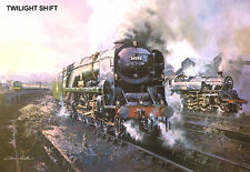 "Hornby Dublo in Railway Art ""Twlight Shift"" No. 17 Signed & Numbered."