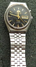 men automatic  Mechanical ORIENT  WATCH BLACK DIAL  RETRO . WORKS PERFECT