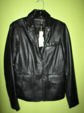 ~NWT!~$628~JOE'S JEANS WOMEN'S LEATHER BLAZER JACKET~BLACK ~ M/MEDIUM~