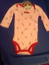 NWT GIRLS PINK CHRISTMAS LONG SLEEVE BODYSUIT MY FIRST CHRISTMAS SIZE 3-6 MONTHS