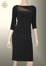 LAUREN RALPH LAUREN Women Dress Size 8 BLACK Long Sleeve Knee Dressy NWT$150