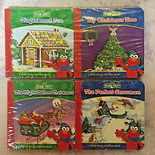 Sesame Street Holiday Board Books Christmas Lot Complete 4 Book Set! New Sealed!