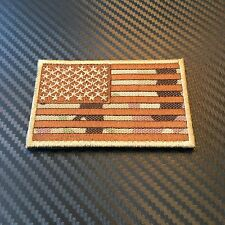 EMBROIDERED MULTICAM US FLAG UNITED STATES MORALE PATCH W VELCRO® BND USA SOF SF