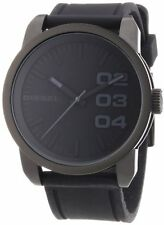 Diesel Men's DZ1446 Black Dial Black Rubber Strap Quartz Watch