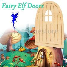 10pcs Wooden Fairy Pixie Door Blank Plaque Hanging Decoration Craft DIY Sign Set