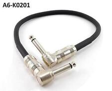 "1ft Kirlin Right-Angle 1/4"" Mono 20AWG Male/Male Effects Pedal Instrument Cable"