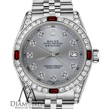 Women's Rolex 31mm Datejust Grey Color Dial with Ruby & Diamond Accent RT Watch