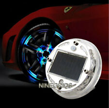Car Solar Energy Flash Wheel Tire Tyre Light 12 LED Decoration Lamp 4 Model RGB