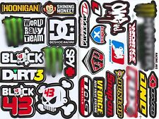 2SHEET KEN BLOCK 43 DUNLOP SNAP-ON WORLD RALLY TEAM VINYL DECAL STICKER DIE-CUT