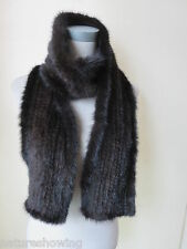 Free shipping /Men  real mink fur knitted  scarf /cape/  170*15  brown