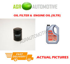 PETROL OIL FILTER + FS 5W40 ENGINE OIL FOR RENAULT CLIO 1.2 75 BHP 2003-10