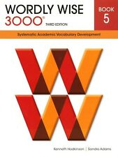 Wordly Wise 3000 3rd Edition Student Book 5+answers -FREE Expedited Upgrade W$45