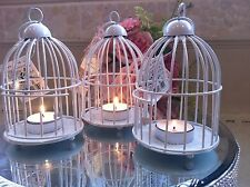 Birdcage Tea Light Holders x3 Set Candle Lantern Hanging Bargain Shabby Chic New