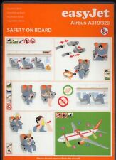 Easyjet EASY JET Airbus A 319 320 airline SAFETY CARD ee e316