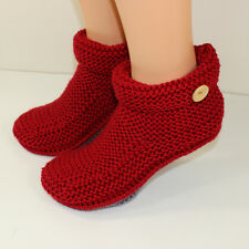PRINTED KNITTING INSTRUCTIONS-MATT'S BOOTS ADULT SLIPPERS KNITTING PATTERN