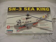Lindberg HELICOPTER SH-3 SEA KING NAVY Model Kit NEW  SEALED 1/72 SCALE