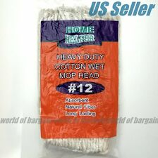 MOP HEAD #12 Heavy Duty Cotton Replacement Refill String Wet Floor Mops Cleaner
