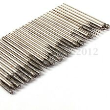 Frese Diamantate 30pcs Set 3mm Vetro Trapano Punte Drill Per Incisione Misti New