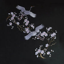Red-crowned Crane DIY Embroidered Sew on Patch Clothes Fabric Sticker 25*23.5cm