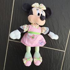 "DISNEY MINNIE MOUSE PATCHWORK RAG DOLL SOFT TOY PLUSH COMFORTER 10"" TALL CUTE"