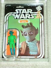 Vintage Star Wars 1979 KENNER AFA 75 GREEDO ANH 21 Back-B Card MOC CLEAR BUBBLE!
