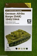Vallejo AFV Painting System GERMAN AFRIKA KORPS Acrylic Airbrush Paint set 78410