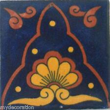 C#071) MEXICAN TILE CERAMIC TALAVERA MEXICO HAND MADE ART TALAVERA TILE