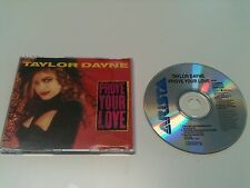 Taylor Dayne - PROVE YOUR LOVE - Maxi CD Single © 1989 (Tell It To My Heart 8:35