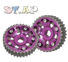 4G63 ENGINE REPLACEMENT ALUMINUM ADJUSTABLE CAM GEAR SHAFT WHEEL SPROCKET PURPLE