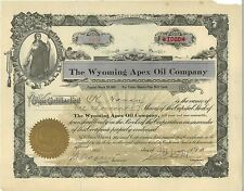 The Wyoming Apex Oil Company 1917 Colorado old stock certificate share