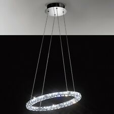 LAMPADARIO MODERNO LAMPADA SOFFITTO CRISTALLO PLAFONIERA SOSPENSIONE LUCI A LED