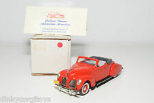 DURHAM LINCOLN ZEPHYR CONVERTIBLE 1938 RED MINT BOXED