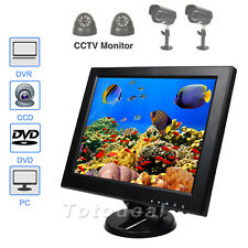 "12"" TFT Color LCD Monitor CCTV Surveillance Video Display Screen w/Speaker HDMI"