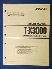 TEAC T-X3000 TUNER SERVICE MANUAL ORIGINAL FACTORY ISSUE THE REAL THING