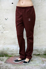 ARENA Ladies Sport Fitness Gym Burgundy Tracksuit Polyester Pants Trousers M FAB