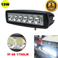 "6"" CREE 18W Spot LED Work Light Car Truck Boat Driving Fog Offroad SUV 4WD Bar"
