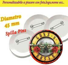 Brosche 4,5 cm PIN? Pins Sammlung Guns N'Roses GNR Not in this Lebensdauer Tou