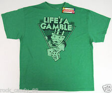 MONOPOLY T-shirt Retro LIFE'S A GAMBLE Board Game Tee Adult 2XL XXL Green NWT