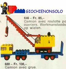 LEGO LEGOLAND 680 - LOW LOADER AND CRENE
