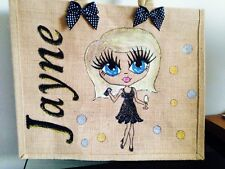 PERSONALISED LARGE HAND PAINTED JUTE BAGS GIFTS 21ST 30TH 70TH BIRTHDAY BEACH