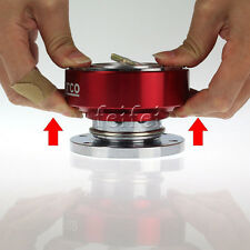 Universal Car Steering Wheel Quick Release Hub Adapter Snap Off Boss Kit RED ONE