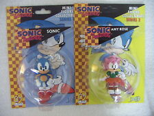 SONIC The Hedgehog Sonic e Amy ROSE 2 MINI FIGURA Collectibles F4F 2.5 ""