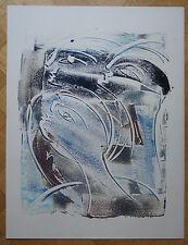 """ROBERT CALIX (1919/2008)  Acrylique  """" COMPOSITION  """" Signé"""