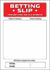 BETTING SLIPS - 25 x 5CM Rice Paper Cake Toppers - Free 1st Class Delivery